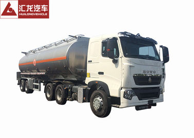 T7H 2 Axle Aluminum Fuel Tank Semi Trailer With Intelligent Safety System