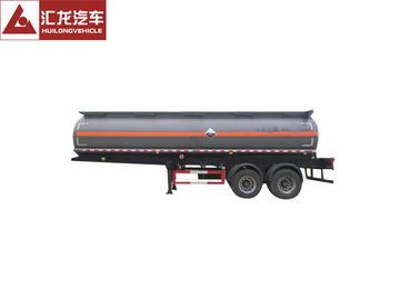 Carbon Steel Chemical Tank Trailer High Volumetric Efficiency for Nitric Acid